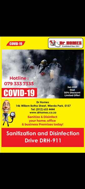 Sanitization & Disinfection of Home , Office or business premises