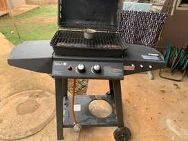 Out and about 2burner gas braai