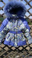 Курточка для девочки с меховой, сьемной подстежкой