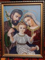 Продам картину бисером Святое семейство