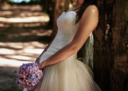 Suknia ślubna Madam B - Madonna roz 36-38, kryształki, tiul ZABIERZÓW