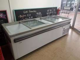 Island Freezer-998lt- Glass Slider