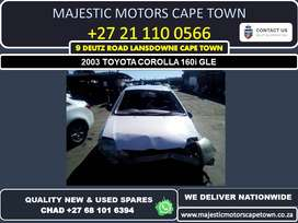 Toyota Corolla used spares for sale
