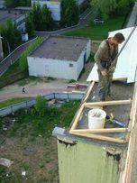 Ремонт крыши балконов, киосков профлистом.