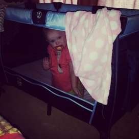 Camp cot with mattress