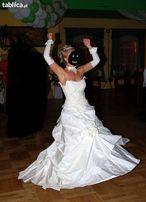 Suknia Ślubna +welon+bolerko+naszyjnik+rękawiczki+korona