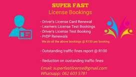SUPER FAST LICENSE BOOKINGS
