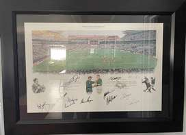Rugby Frame 1995 World Cup with various Original Signitures