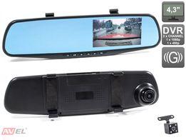 Зеркало видеорегистратор Full HD +камера заднего вида,регистратор. Опт