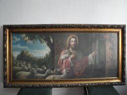 Obraz o tematyce religijnej, polmisek/patera