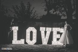 Napis LOVE na Wasze Wesele.