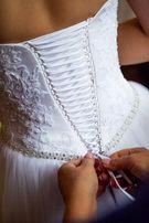 Przepiękna suknia ślubna w idealnym stanie + gratisy