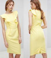 Nowa sukienka złota ołówkowa 44
