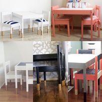 Stolik i dwa krzesełka do pokoju dziecięcego Skandynawski styl