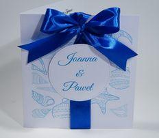 Zaproszenia z motywem morskim :) Wykonane na zamówienie :) Ślub Wesele