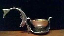 ситечко для чая серебро с позолотой