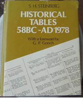 Historic Tables 58BC-AD1978 - S.H. Steinberg - Hard cover