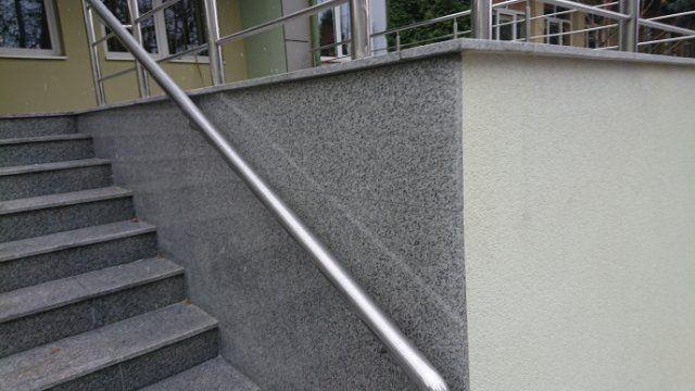 Okazja - GRANIT PŁOMIEN.–150x33x2 cm kamień szary GREY - stopnica Mstów - image 2
