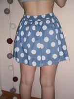 spódniczka mini w kropki jeans rozm S