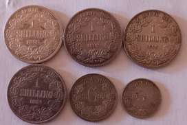 6 x ZAR COINS IN XF CONDITION VALUED AT R40750