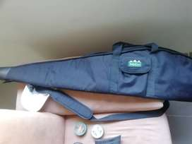 Gamo silver shadow 4.5 air rifle with Ultraoptec 3x scope, rifle case
