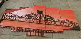 Liverpool 5 piece mounted canvas