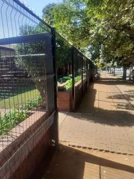 Clearview fence Supply and Installation, 1.8m - 2.4m high and 3m wide.