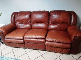 Leather set seats & Coffee table