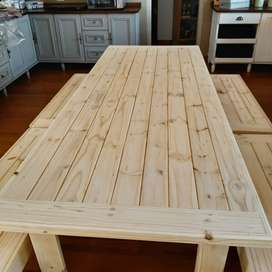 Table set with benches