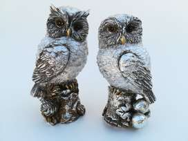 Sterling Silver Plated Owls