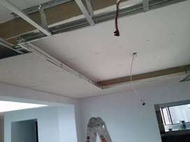 Drywall partition and ceilings
