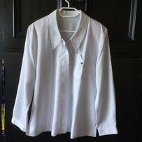 Bluzka biała z długim rękawem XL