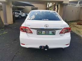 We are selling our Toyota corolla, 2011 model, it has towbar.
