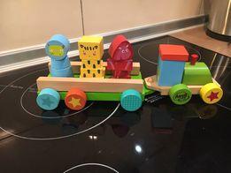 Деревянный паровозик сортер Play Grow