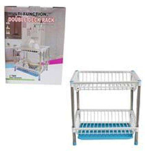Multi-Function Double Deck Rack 2 tiers dish drainer 0