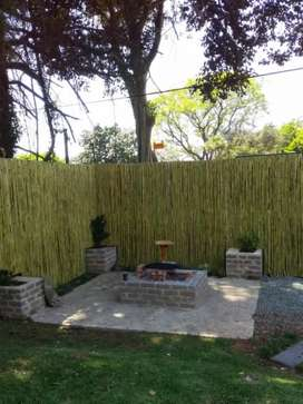 Wattle and bamboo  screens