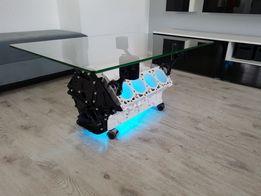 Stolik z silnika V8 Mercedes AMG 55 LED Nowoczesny BMW Prezent Majbo