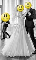 Suknia Ślubna gorset kolor: Ivory rozmiar 36/38 model: Jadeit Haks