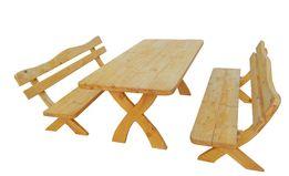 Meble ogrodowe stół 2 ławki grube i mocnena 6-8 osób
