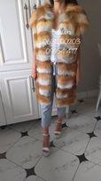 Роскошный меховой жилет из сибирской лисы
