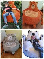 бескаркасное кресло-кот для девочки