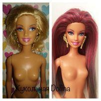 Реставрация. Перепрошивка волос куклам Барби. Barbie Волосы для кукол.