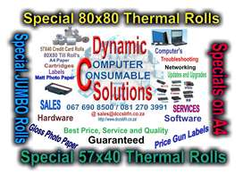 Thermal Till and Credit Card Machine Rolls