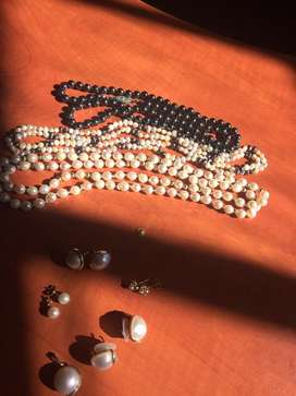 Cultured pearls & mabe prarls make me a offer
