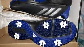 Adidas Bounce Black and Blue Golf shoe with Spikes