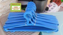 Широкий тремпель - плечики для одежды, (микс цвета по 10 шт).