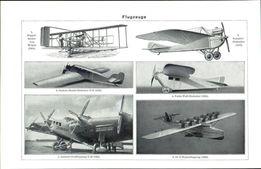 40x30 cm - BALONY , SAMOLOTY, Sterowce reprodukcje XIX w. grafik