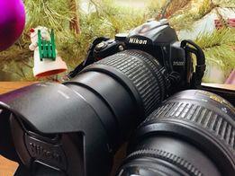 Зеркальный фотоаппарат Nikon D5000 с 2 объективами Nikon 18-105mm f3.5