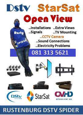 DStv, StarSat, Open View and Extra Views Signals and TV Wall Mounting