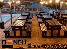 Restaurant,pub,car wash and canteen benches